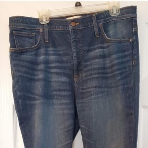 Madewell High Rise Skinny Jeans adjustable edition